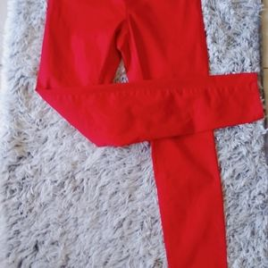 H&M RED skinny jeans SIZE 8